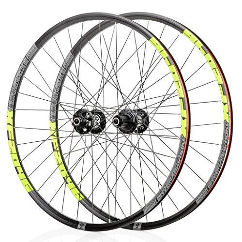 LBBL Juego de ruedas de ciclismo Hub26 27.5' 29' Ruedas de aleación Mag MTB Juego de ruedas de freno de disco 8,9,10,11, velocidad sellada buje de liberación rápida 32 agujeros (color: A)