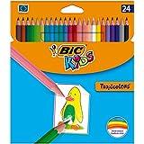 BIC Kids Tropicolors - Blíster de 24 unidades, lápices de colores, colores surtidos