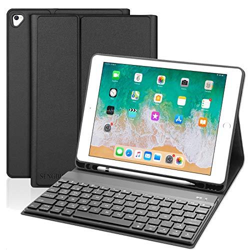 SENGBIRCH Teclado para iPad 2018,Funda Teclado Español para iPad Air...