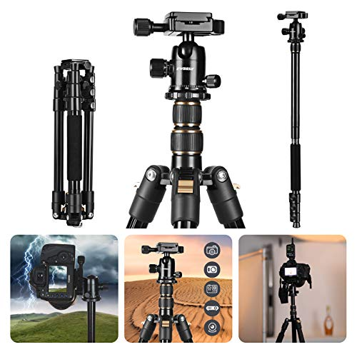 "GWNNSH 55"" Portable Aluminum Tripod for Camera"