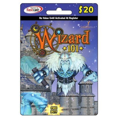 Wizard 101 Prepaid Points $20 Including a Free Pet