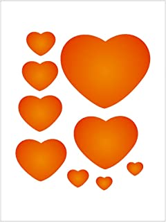 Stencil de Acetato para Pintura OPA Simples 15 x 20 cm - 379 Corações Patchwork