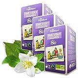 Les Papoteuses   Tè verde al Gelsomino biologico   certificato biologico e commercio equo e solidale   24 bustine   Set di 3 confezioni