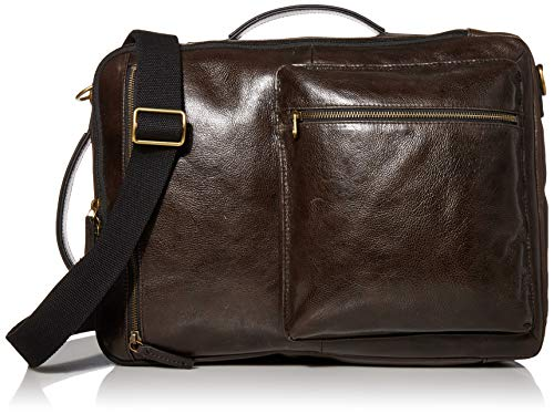 Fossil Men's Buckner Large Convertible Backpack and Briefcase, Black Leather