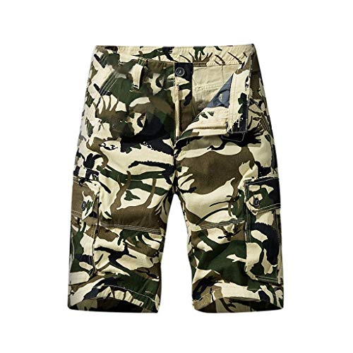 Review Of Wadonerful-men Cargo Shorts Multi-Pockets Overall Shorts Fashion Comouflage Print Solid Co...