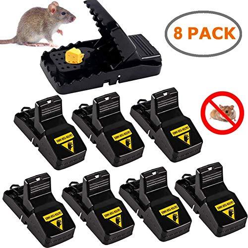 Aibeau Mausefalle, 8 Stück Profi-MäUsefalle Rattenfalle Köder Schlagfalle, effizient, einfaches Aufstellen und wiederverwendbar Mäusefalle Schlagfalle In Haus Und Garten