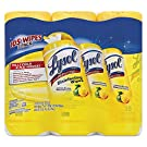LYSOL 82159 Disinfecting Wipes, 7 x 8, Lemon and Lime Blossom, 35/Canister, 3/Pack