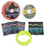 MAXIMUMCATCH Bestprice Fliegenfischen Schnur (Weight Forward, Schwimmende Fliegenschnur) und Fliegenschnur Combo mit Backing Vorfach und Tippet (1F/2F/3F/4F/5F/6F/7F/8F/9F/10F) (Gelbe Combo, WF4F)