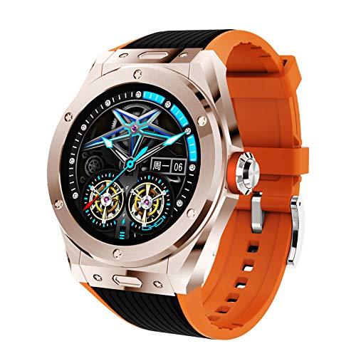 FMSBSC Reloj Inteligente Smartwatch con Llamada Bluetooth, Música Bluetooth, Monitor de Sueño, Presión Arterial, Pulsómetros,10 Modos Deportivos, Pulsera Actividad Inteligente,Rose Gold