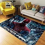 YOUXIUHAO Captain America Spider Man Mode Chambre Tapis Baie Vitrée Tapis De Chevet Lavable Salon Tapis 160X230 Cm