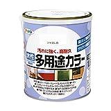 アサヒペン 水性多用途カラー 1.6L ツヤ消し白の写真