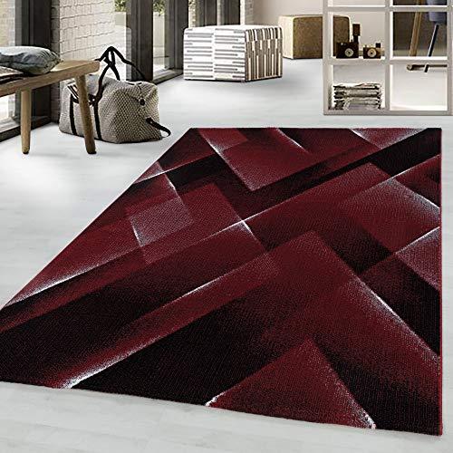 Costa Trend - Tappeto con motivo geometrico, 200 x 290 cm, colore: Rosso