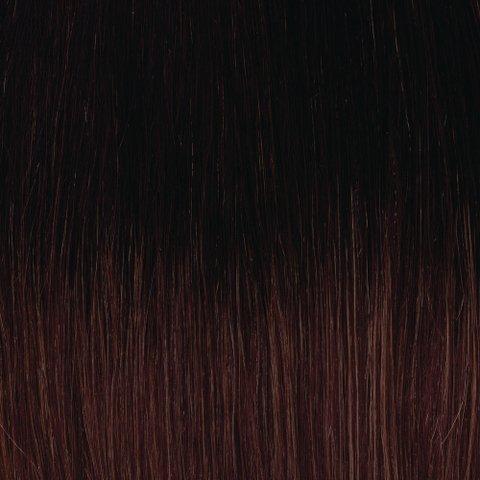 American Dream original de qualité 100% cheveux humains 45,7 cm soyeuse droite trame Couleur 1B-33 – Noir naturel – Cuivre Riche