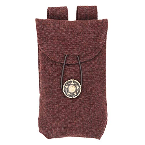 Mythrojan Medieval Renaissance Jewelry Belt Pouch LARP Costume Waist Bag – Dark Brown