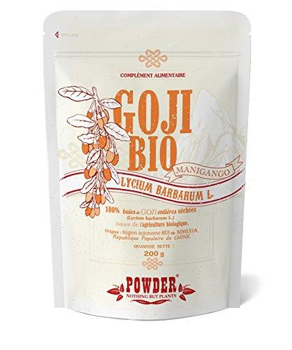 Bacche di Goji Bio*POWDER Nothing But Plants®* Potente antiossidante, fonte di Energia e Salute * 200 g *