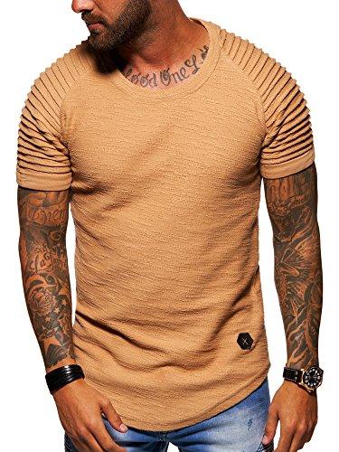 behype. Herren Oversize Biker T-Shirt 20-1710 Beige 3XL