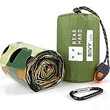 Bearhard Saco de dormir de emergencia, ultraligero, impermeable, termal, con retención de calor, para camping, senderismo, mochilero