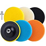 Car Buffing Wheels Sponge Pads Polishing Pads Kit Buffing Pad for Car Buffer Polisher Sanding, Polishing, Waxing, Buffing Wheels Pad Clean Wheels 7Pcs (5 Inch)