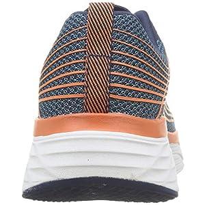 Skechers Men's Max Cushioning Elite-Performance Walking & Running Shoe Sneaker, Navy/Orange, 10.5 M US