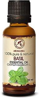Huile Essentielle de Basilic - 30ml - Ocimum Basilicum - Huiles Essentielles Aromathérapie pour Diffuseurs - Visage - Saun...
