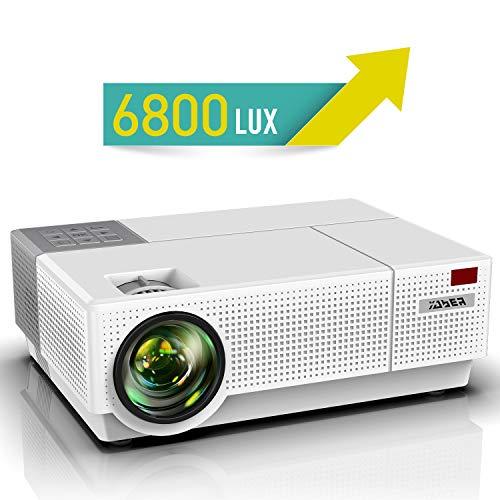 Proiettore, YABER 6800 Lumen Videoproiettore 1080P Nativa (1920x1080) ±50° Trapezoidale Correzione Led Full Hd 300' Videoproiettore Domestico Per Iphone, Smartphone, Pc, Tvbox, Laptop, Ps4