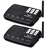 Wireless Intercom System Hosmart 1/2 Mile Long Range 7-Channel Security Wireless Intercom System for Home or Office (New Version)[2 Stations Black]
