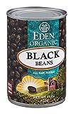 Eden Organic Black Beans No Salt Added 15 OZ (Pack of 6)