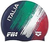 Arena Silicone cap Fin Italia, Cuffia Unisex Adulto, Navy White, Taglia Unica