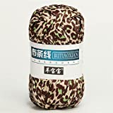 1 unid 100 g de punto de tejido tejido de punto de tejido Cesta gruesa Manta Alfombras Hilo acogedor algodón lana tejer tapas tapas Bricolaje Hilado de tela de fantasía de ganchillo ( Color : 55 )
