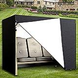 Comficent - Funda de columpio de jardín de 3 plazas, Oxford impermeable, lona de balancín antirayos UV, cubierta de protección para columpios exteriores