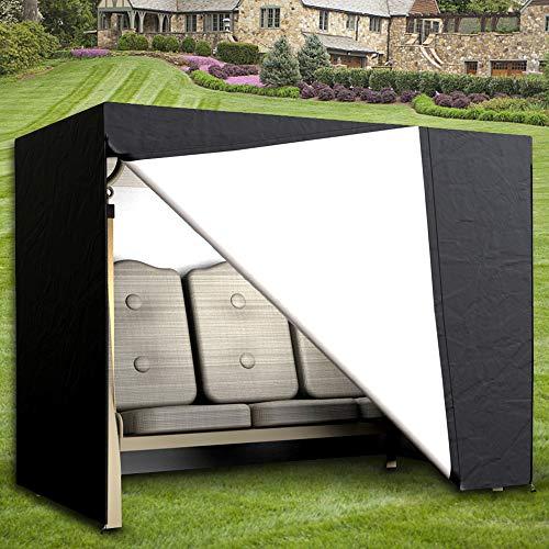 Comficent Housse de Balancelle de Jardin 3 Places Oxford Imperméable Bâche de Balancelle Anti-UV Couverture de Protection Balançoire Extérieur