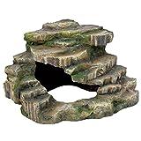 Trixie 76196 Eck-Fels mit Höhle und Plattform