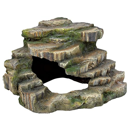 Trixie 76196 Eck-Fels mit Höhle und Plattform, 26 × 20 × 26 cm