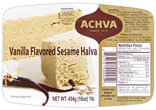 Achva Halva Vanilla, 16oz Tray