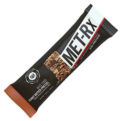 MET-Rx Big 100 Colossal - Peanut Butter Pretzel - Box of 9 - 3.52 oz (100g) bars