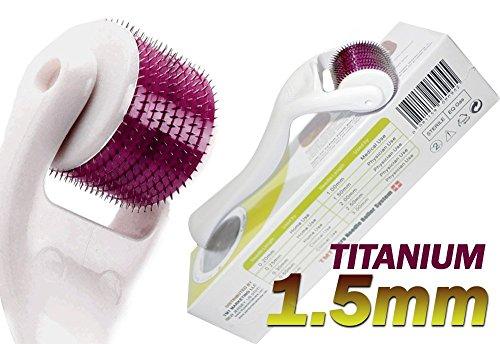 (540agujas) TMT blanco Micro sistema de rodillos de aguja de titanio para las arrugas, Scar, acné, celulitis tratamiento (más eficaz que Regular 192Agujas Derma rodillos)–1,5mm