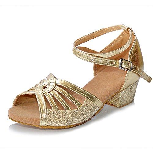 misu - Zapatos con tacón Mujer, Color Dorado, Talla 36.5