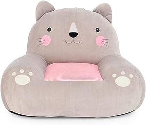 Eanpet Animal Baby Sofa Chair Kids Plush Stuffed Seat Toddler Infant Learning Sitting Cushion Toys for Boys Girls (L, Cat)