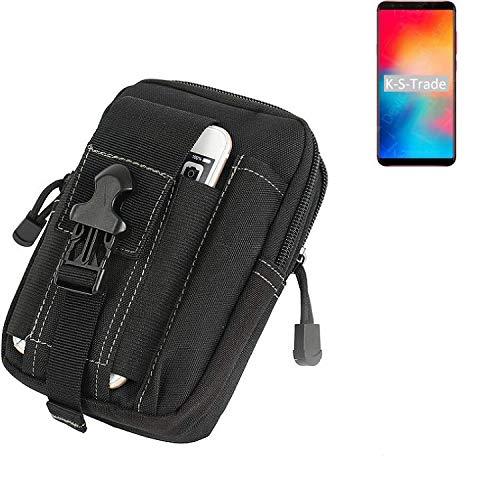 K-S-Trade Gürtel Tasche Für Vernee Apollo 2 Gürteltasche Holster Schutzhülle Handy Hülle Smartphone Outdoor Handyhülle Schwarz Zusatzfächer