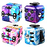 Infinity Cube and Fidget Cube, 4 Pieces Fidget Toys for Adults Kids Boys Girls Gift, Cute Mini Unique Gadget Toy, Relieve Stress, Reduce Anxiety Fidget Cube Game for ADHD, OCD, Autism and Kill Time