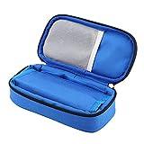 Diabetic Bag,Portable Diabetic Carrying Case Medical Travel Cooler Bag for Insulin Supply Kits (Blue)