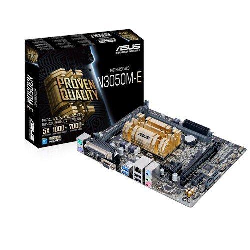 Asus N3050M-E Mainboard (µATX, Intel Celeron N3050, 2x DDR3 Speicher, 2x SATA 6Gb/s, 2x USB 3.0, 2x USB 2.0, PCIe 2.0)