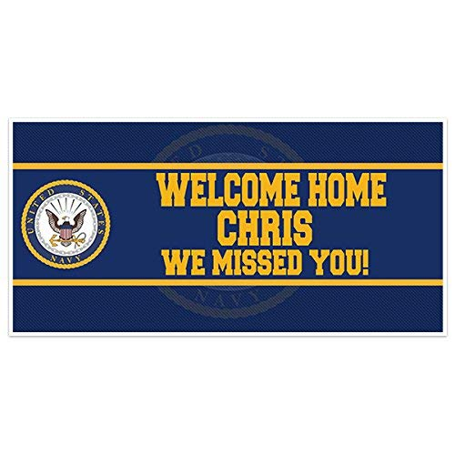 Welcome Home Navy Military Banner Party Backdrop