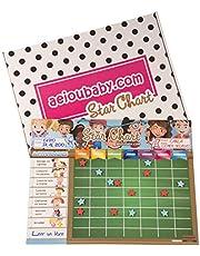aeioubaby.com Tabla de Estrellas y recompensas, Pizarra magnética de tareas, Star Chart, Reward Chart, Poster Pared