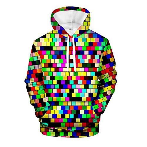 WEIYI BO MAoyi Unisex Jersey 3D Print Creative Rubik Cube Series Hooded Sudaderas 9 XXXL