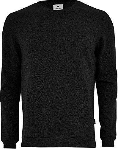 jbs of Denmark Sweatshirt Herren, Rundhalsausschnitt, Ideale Passform Ultra Soft Touch und hohe Atmungsaktivität durch Bambus-Baumwoll Gewebe (Ohne Kratzende Seitennähte) Schwarz, S