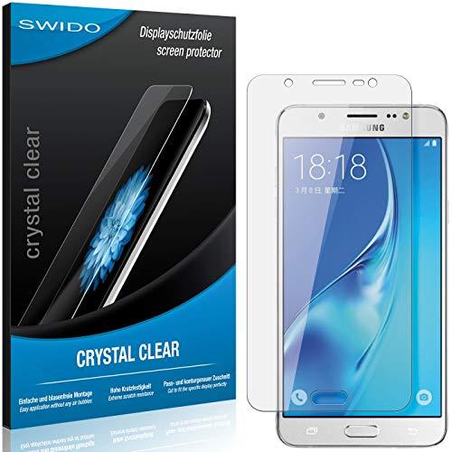 SWIDO Schutzfolie für Samsung Galaxy J7 Duos (2016) [2 Stück] Kristall-Klar, Hoher Festigkeitgrad, Schutz vor Öl, Staub & Kratzer/Glasfolie, Bildschirmschutz, Bildschirmschutzfolie, Panzerglas-Folie