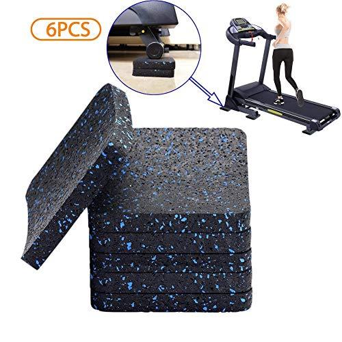 BestXD Treadmill Mat, Exercise Equipment Mat with High Density Rubber (3.94 X 3.94 X 0.5 inch) (6 PCS)