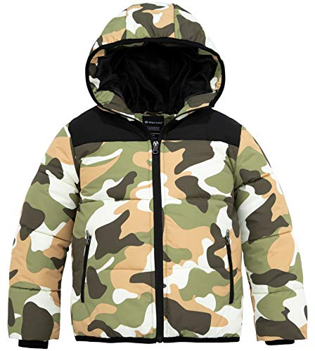 Wantdo Boys Water Repellent Fleece Lined Thick Winter Jacket Parka Camo 14/16