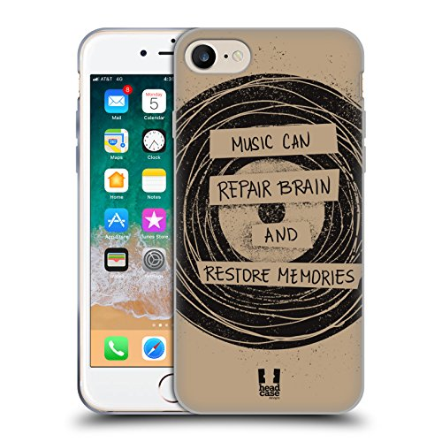 Head Case Designs Vinile La Forza della Musica Cover in Morbido Gel Compatibile con Apple iPhone 7 / iPhone 8 / iPhone SE 2020